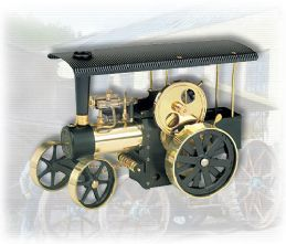 Wilesco Steam Traction Engine Black/Brass D406.Free UK delivery ! £260.00